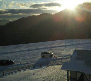 飛騨高山アルコピアスキー場の朝日!